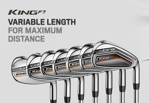 Cobra Golf King F7 Irons - Variable