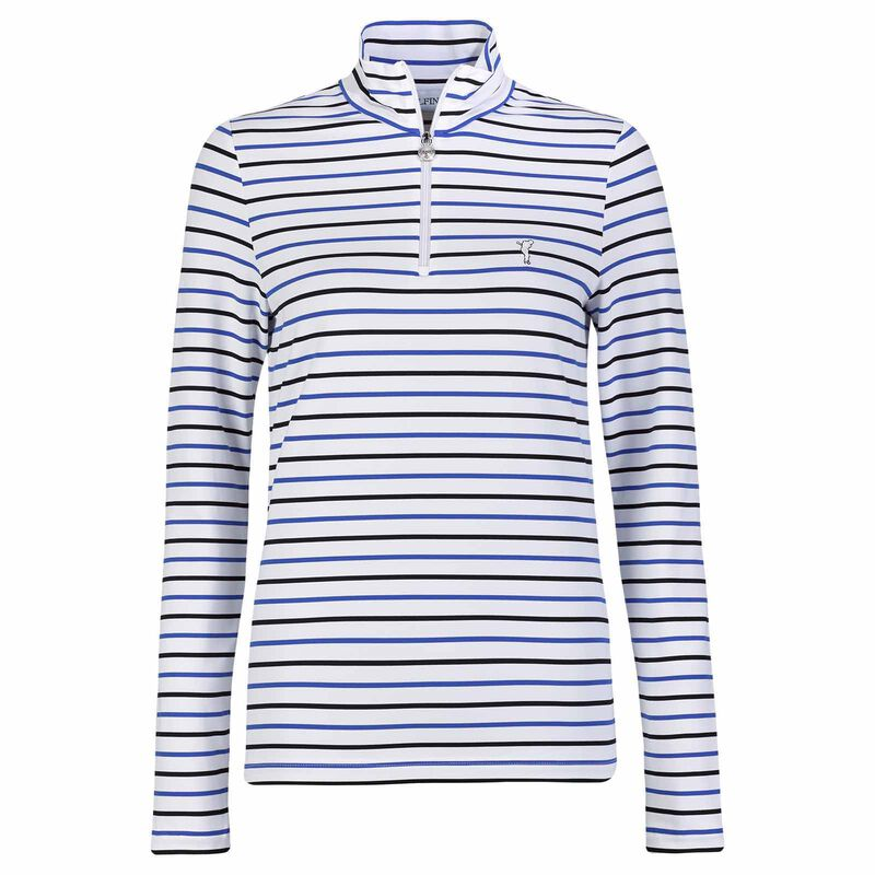 T-Shirts, Polos, Tops GOLFINO Melissa Long-Sleeve Ladies Polo Shirt, Female, Blue, 14