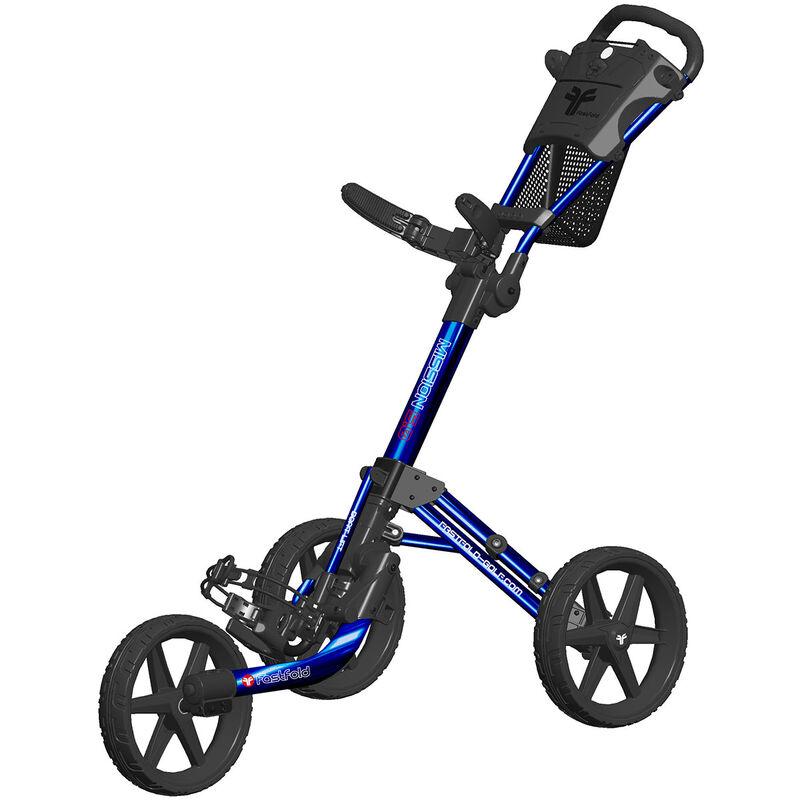 Golf Fastfold Mission 5.0 3 Wheel Push Trolley, Male, White/burgundy