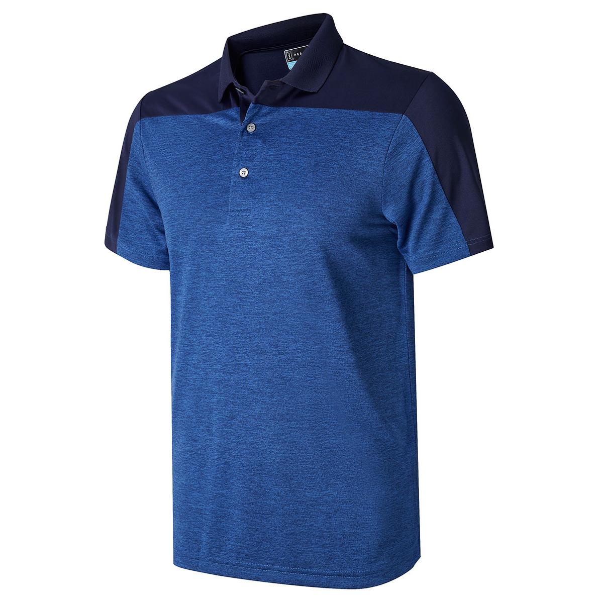 pga tour heather colour block polo shirt